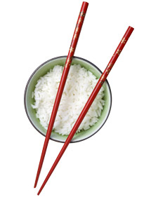 Picture of a bowl and chopsticks